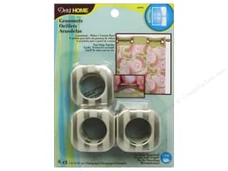 """1"""" curtain grommets: Dritz Home Curtain Grommets 1 in Square Champagne Stripe 8pc"""