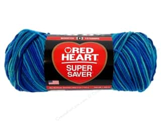 Red Heart Super Saver Yarn #3944 Macaw 244 yd.
