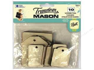 Weekly Specials Gallery Glass: Loew Cornell Transform Mason Wooden Tags 10 pc. Rectangles