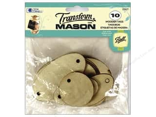 Weekly Specials Glass: Loew Cornell Transform Mason Wooden Tags 10 pc. Ovals