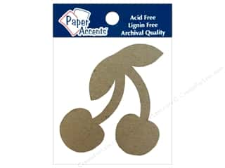 Paper Accents Chipboard Shape Cherry 8 pc. Kraft