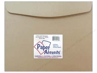 scrapbooking & paper crafts: 9 1/2 x 12 1/2 in. Envelopes by Paper Accents 4 pc. #357 Brown Bag