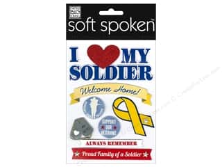 Me & My Big Ideas Soft Spoken Stickers I Heart My Soldier