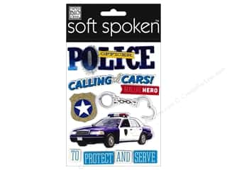 Me & My Big Ideas Soft Spoken Stickers Police Officer
