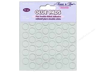 Multicraft Adhesive Glue Pads Round 1/2 in. Clear 52 pc.