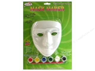 glitter chenille stem: Multicraft Krafty Kids Mask Maker Female Paint & Brush