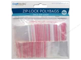 scrapbooking & paper crafts: Craft Medley Zip-Lock Polybags 1 1/2 x 1 1/2 in. 200 pc.