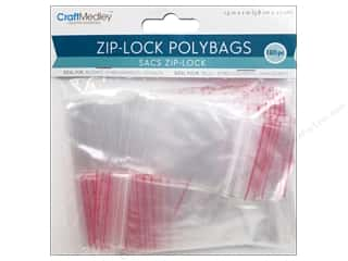 craft & hobbies: Craft Medley Zip-Lock Polybags 1 1/2 x 2 in. 180 pc.