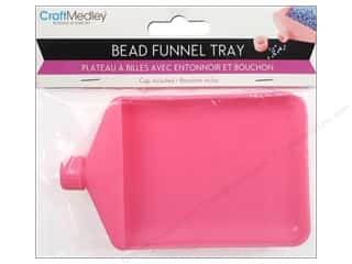 craft & hobbies: Craft Medley Bead Funnel Tray with Cap
