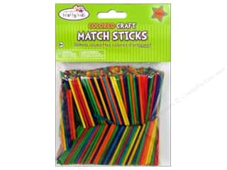 craft & hobbies: Craft Medley Wood Craft Match Sticks 2 in. Colored 750 pc.