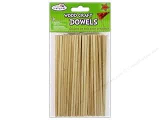 Craft Medley Wood Dowel 6 x 5/32 in. Natural 60 pc.