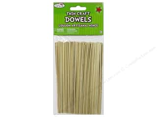 craft & hobbies: Craft Medley Wood Dowel 6 x 1/10 in. Natural 140 pc.