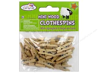 craft & hobbies: Craft Medley Mini Clothespin 1 in. Natural 45 pc.