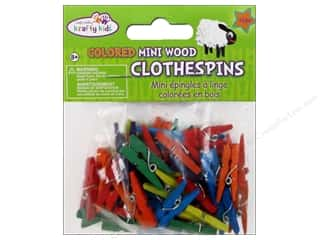 Multi Colored Yarn: Craft Medley Mini Clothespin 1 in. Colored 45 pc.