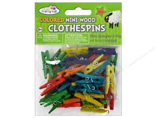 Weekly Specials Kids Crafts: Craft Medley Mini Clothespin 1 x 3/16 in. Colored 40 pc.