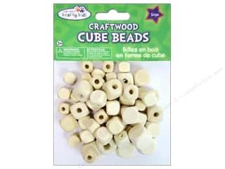 wood beads: Craft Medley Wood Bead Cube 7/16 - 5/8 in. Natural 54 pc.