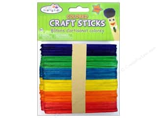 craft & hobbies: Craft Medley Craft Sticks 4 1/2 in. Colored 100 pc.