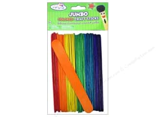 craft & hobbies: Craft Medley Craft Sticks Jumbo 6 in. Colored 50 pc.