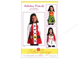Table Runners / Kitchen Linen Patterns: Cotton Ginnys Holiday Friends Child's Apron Pattern