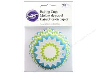 Baking Wraps / Cupcake Wrappers: Wilton Standard Baking Cups Chevron Lime 75 pc.