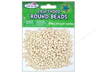 wood beads: Craft Medley Wood Bead Round 3/16 in. Natural 450 pc.