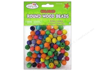 wood beads: Craft Medley Wood Bead Round 1/2 in. Colored 80 pc.
