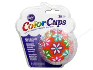 Baking Wraps / Cupcake Wrappers: Wilton Baking Cup Colorcups Flowers 36pc