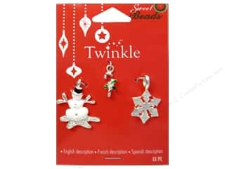 Sweet Beads EWC: Sweet Beads EWC Twinkle Charm Metal Silver Assorted 1 3pc
