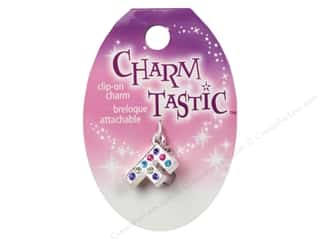 beading & jewelry making supplies: Janlynn Charmtastic Clip-On Charm Letter F