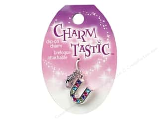 beading & jewelry making supplies: Janlynn Charmtastic Clip-On Charm Letter U