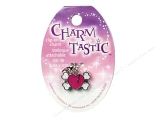 beading & jewelry making supplies: Janlynn Charmtastic Clip-On Charm Heart Skull