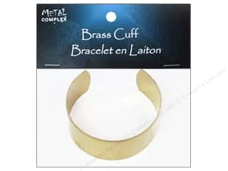 Metal Complex Bracelet Cuff Flat Band 1 in. Brass