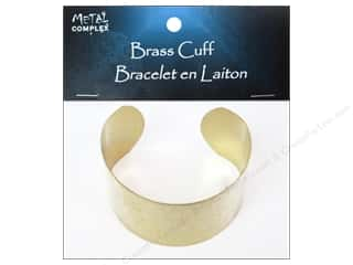 beading & jewelry making supplies: Metal Complex Bracelet Cuff Flat Band 1 1/2 in. Brass