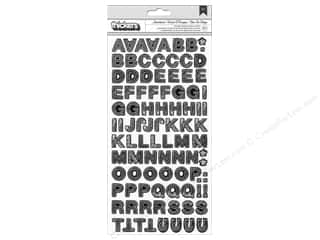 alphabet stickers: American Crafts Thickers Alphabet Stickers Sketchbook Charcoal