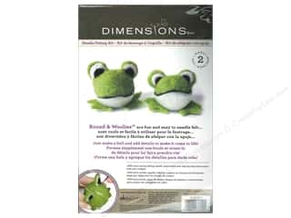 weekly specials Dimensions Felting: Dimensions Needle Felting Kit Round & Woolies Frogs