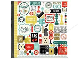 Caption Stickers / Frame Stickers: Carta Bella Sticker 12 x 12 in. Well Played Element (15 sheets)