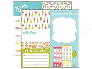 Summer Fun: Echo Park 12 x 12 in. Paper Fun In The Sun Collection Sidewalk (15 sheets)