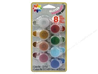 craft & hobbies: Delta Ceramcoat Paint Pot Set Glitter - 8 Colors