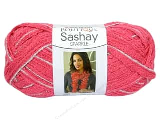 Red Heart Boutique Sashay Yarn #1726 Sparkle Salmon 35 yd.