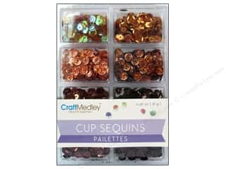 craft & hobbies: Craft Medley 7 mm Cupped Sequins Box Of Chocolate