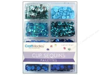 craft & hobbies: Craft Medley 7 mm Cupped Sequins Rhythm N Blues