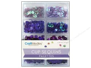 craft & hobbies: Craft Medley 7 mm Cupped Sequins Viola