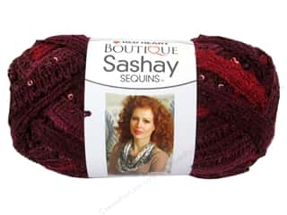 Clearance Red Heart Pomp A Doodle Yarn: Red Heart Boutique Sashay Yarn #1938 Sequin Cabernet 20 yd.