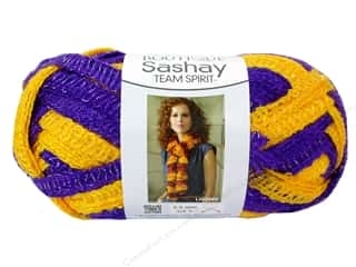 Red Heart Boutique Sashay Team Spirit: Red Heart Boutique Sashay Team Spirit Yarn #0956 Purple/Gold 30 yd.