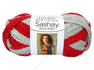 Red Heart Boutique Sashay Team Spirit Yarn #0988 Red/Grey 30 yd.
