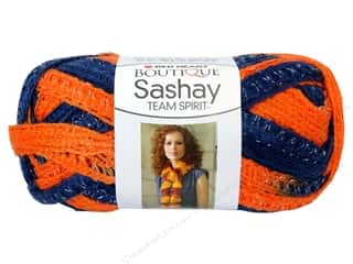 Red Heart Boutique Sashay Team Spirit: Red Heart Boutique Sashay Team Spirit Yarn #0960 Orange/Navy 30 yd.