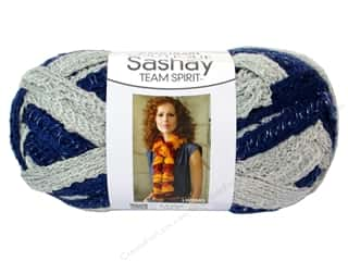 Red Heart Boutique Sashay Team Spirit: Red Heart Boutique Sashay Team Spirit Yarn #0944 Navy/Grey 30 yd.