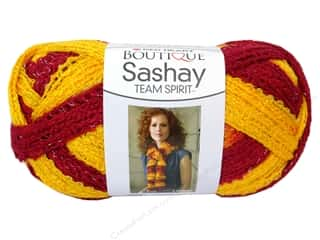 Red Heart Boutique Sashay Team Spirit Yarn #0964 Burgundy/Gold 30 yd.
