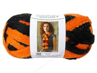 Red Heart Boutique Sashay Team Spirit: Red Heart Boutique Sashay Team Spirit Yarn #0972 Orange/Black 30 yd.