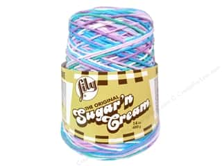 sugar'n cream yarn: Lily Sugar 'n Cream Yarn Cone 14 oz. #02316 Beach Ball Blue